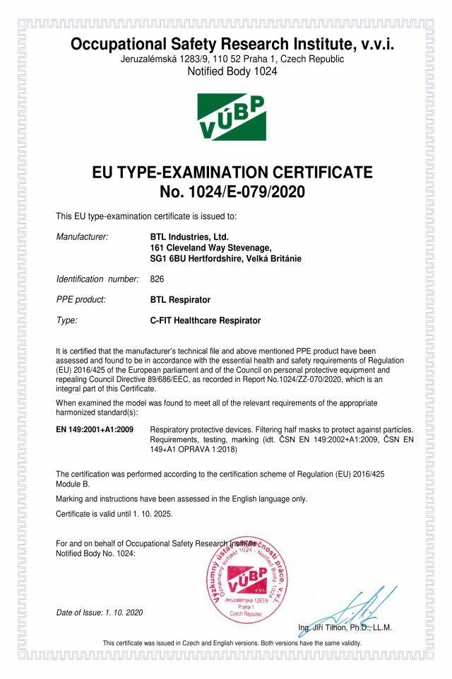 905-85CECertificate_1024-E-079-2020_BTL_Respirator_C-FIT_EN-1_640