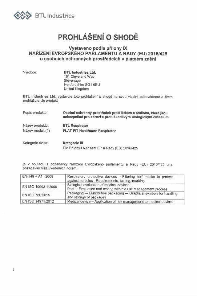 BTL_Gal_Respirator_FLAT-FIT_certifikat_2_640x960